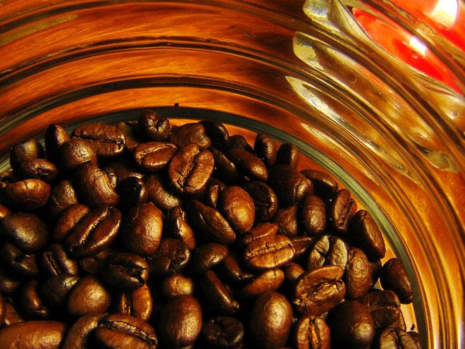 Обжаренные зерна кофе