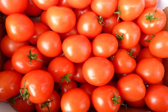 розоватые помидоры