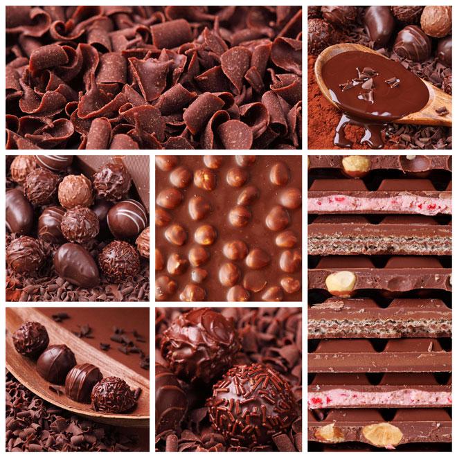 шоколад с начинками