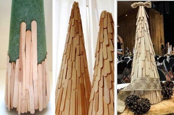 Объемные елки своими руками. 20 вариантов новогодних красавиц
